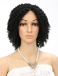 "10"" Human Hair Wigs Short Curly Wig Brazilian Virgin Hair Womens Fashion Kinky Curly Natural Color"