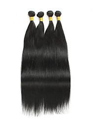 4pcs Indian Silk Straight Hair Bundles Weaves Natural Color 100% Unprocessed Indian Human Hair Weft