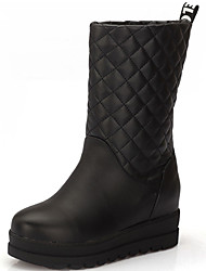 Women's Boots Spring / Fall / Winter Snow Boots / Fashion Boots Rubber/ Casual Flat Heel Others Black / White Others