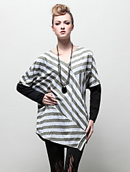 LUTING Women's V Neck Long Sleeve T Shirt Light Green-7114