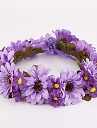 Women's / Flower Girl's Fabric Headpiece-Wedding / Special Occasion / Casual / Outdoor Wreaths 1 Piece Purple