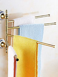 Towel Bar / Gold / Wall Mounted /28*7*14cm /Stainless Steel /Contemporary /28cm 7cm 1.5