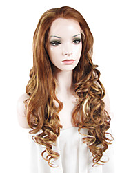 IMSTYLE 26Top QualityMixd Brown Long Beautiful Wave Synthetic Lace Front Wigs