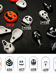 6pcs/lot  Halloween Nail Alloy Jewelry