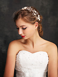 Women's / Flower Girl's Rhinestone / Alloy / Imitation Pearl Headpiece-Wedding / Special Occasion Headbands 1 Piece