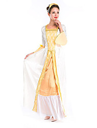 Costumes More Costumes Halloween White / Yellow Solid Terylene Dress / More Accessories