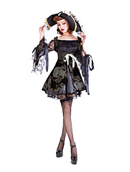 Costumes de Cosplay / Costume de Soirée Pirate Fête / Célébration Déguisement Halloween Noir Couleur Pleine Robe / Plus d'accessoires