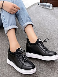 Women's Boots Spring Fall Rubber Outdoor Flat Heel Others Black White