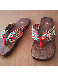 Women's Slippers & Flip-Flops Summer Slingback Cotton Casual Flat Heel Others