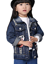Girl's Casual/Daily Print JeansCotton Fall Blue