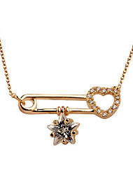 Necklace Chain Necklaces Jewelry Party / Daily Fashion Zircon / Gold Plated Gold / Silver 1pc Gift