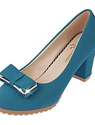 Damen-High Heels-Lässig-Vlies-Blockabsatz-Absätze-Schwarz / Blau / Beige