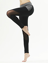 Yoga Pants Tights Breathable / Quick Dry / Compression / Comfortable Natural Stretchy Sports Wear Gray
