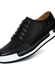 Femme-Extérieure-Noir / Gris-Talon Plat-Bout Fermé-Sneakers-Cuir