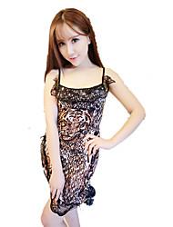 Feminino Super Sensual Roupa de Noite,Leopardo Leopardo,Fino Outros Mulheres