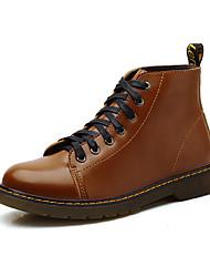 stivali unisex autunno / inverno il comfort tallone piano casuale dell'unità di elaborazione nero / marrone / rosso sneaker