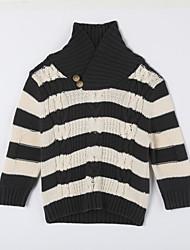 Jungen Pullover & Cardigan-Lässig/Alltäglich Gestreift Baumwolle Herbst Grün