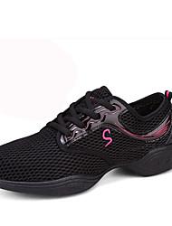 Для женщин-Кожа-Не персонализируемая(Черный / Белый) -Танцевальные кроссовки / Модерн