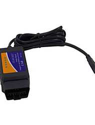 USB OBD2 ELM327 Automotive Diagnostic Test Line Plastic Shell