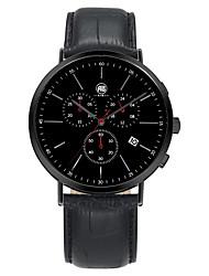 Richard Black Case Black Dial Black Leather Strap Watch