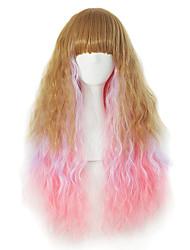 vender como pan caliente gradientes explosión ordenada peluca de pelo rizado largo temperamento femenino