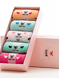 DOBLE LIONS® Mujer Algodón Calcetines 5 / caja-WM0016