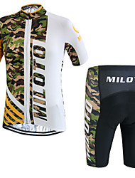 Miloto® Cycling Jersey with Shorts Men's Short Sleeve Bike Breathable / Quick Dry / Moisture Permeability / Sweat-wicking / YKK Zipper