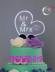 Украшения для торта Персонализированные не Классическая пара Акрил Свадьба Цветы Черный Классика 1 Подарочная коробка