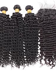 Menschenhaar spinnt Brasilianisches Haar Wogende Wellen 18 Monate 4 Stück Haar webt