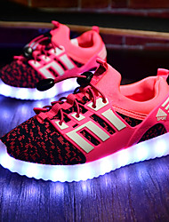 LED Light Up Shoes,Girl's Sneakers Spring Summer Fall Winter Comfort Fabric Athletic Flat Heel Red