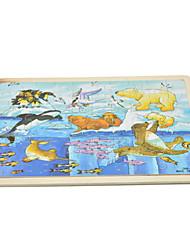 Children Wooden Plane Jigsaw Puzzle Giraffe Educational Cartoon Toy 9pcs