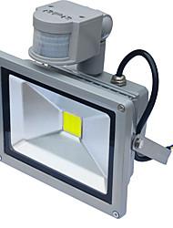 Jiawen lampe lumière crue conduit à induction 20w capteur de mouvement 1800lm pir étanche (AC85-265V)