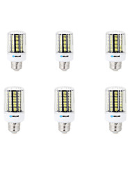 20W E14 B22 E26/E27 Ampoules Maïs LED B 136 SMD 5733 1600 lm Blanc Chaud Blanc Froid Décorative AC 100-240 V 6 pièces