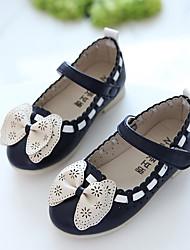 Girl's Sandals Spring / Summer / Fall Sandals PU Outdoor / Dress Flat Heel Bowknot Blue / Pink / White Walking