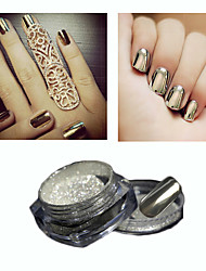 2g/Box Nail Glitter Powder Sliver Shinning Mirror Nail Art Chrome Mirror Powder Manicure Pigment Glitters