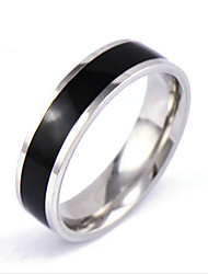 Men's Silver Black Gold Crystal Alloy Band Ring