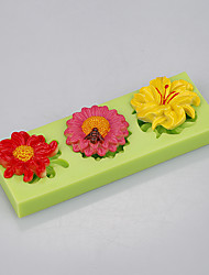 Different shape flowers shape use fondant cake decoration fimo clay mold