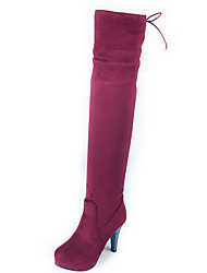 Women's Shoes Stiletto Heel Round Toe Platform Lace Up Over The Knee Boot More Color Available
