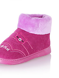 Unisex Boots Winter Slippers Customized Materials Casual Flat Heel Others Brown / Yellow / Pink / Purple / Red