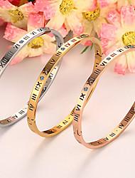Pulseiras Bracelete Titânio Forma Redonda Sexy / Fashion / Caixas de presente e Bolsas Casamento / Pesta / Diário / Casual Jóias Dom
