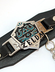 Bijoux Inspiré par The Legend of Zelda Cosplay Anime Accessoires de Cosplay Bracelets Noir Alliage / Cuir PU Masculin / Féminin