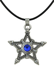 Rhinestone Star Shape Pendant Necklaces for Women