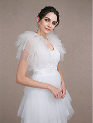 Wedding  Wraps Shrugs Sleeveless Tulle Ivory Wedding / Party/Evening Tiered Open Front