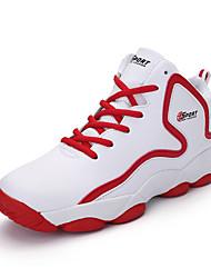 Femme-Sport-Noir Rouge Blanc Noir et blanc-Talon PlatChaussures d'Athlétisme-Polyuréthane