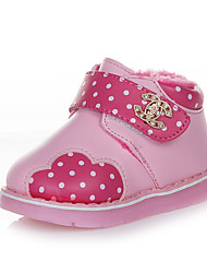 Girl's Boots Winter Snow Boots Leather Outdoor Flat Heel Magic Tape Blue Pink Fuchsia