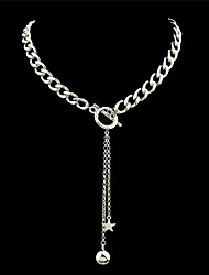 Necklace Chain Necklaces Jewelry Party / Daily / Casual Fashion / Bohemia Style / Personality Alloy / Leather Silver 1pc Gift