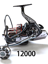Spinning Reels 4:7:1 11 Ball Bearings Exchangable Sea Fishing-SP12000 fishdrops