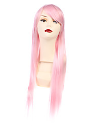 70cm Long Straight Pink Cosplay Wig Costume Anime Hair Wigs Full Wig