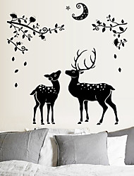Sika Deer Animal Tree Branch Wall Sticker Home Decoration Wall Decals for Kids Room Kindergarten Bedroom Wallpaper
