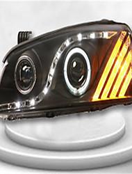 para Hyundai Elantra modificado montagem xenon faróis